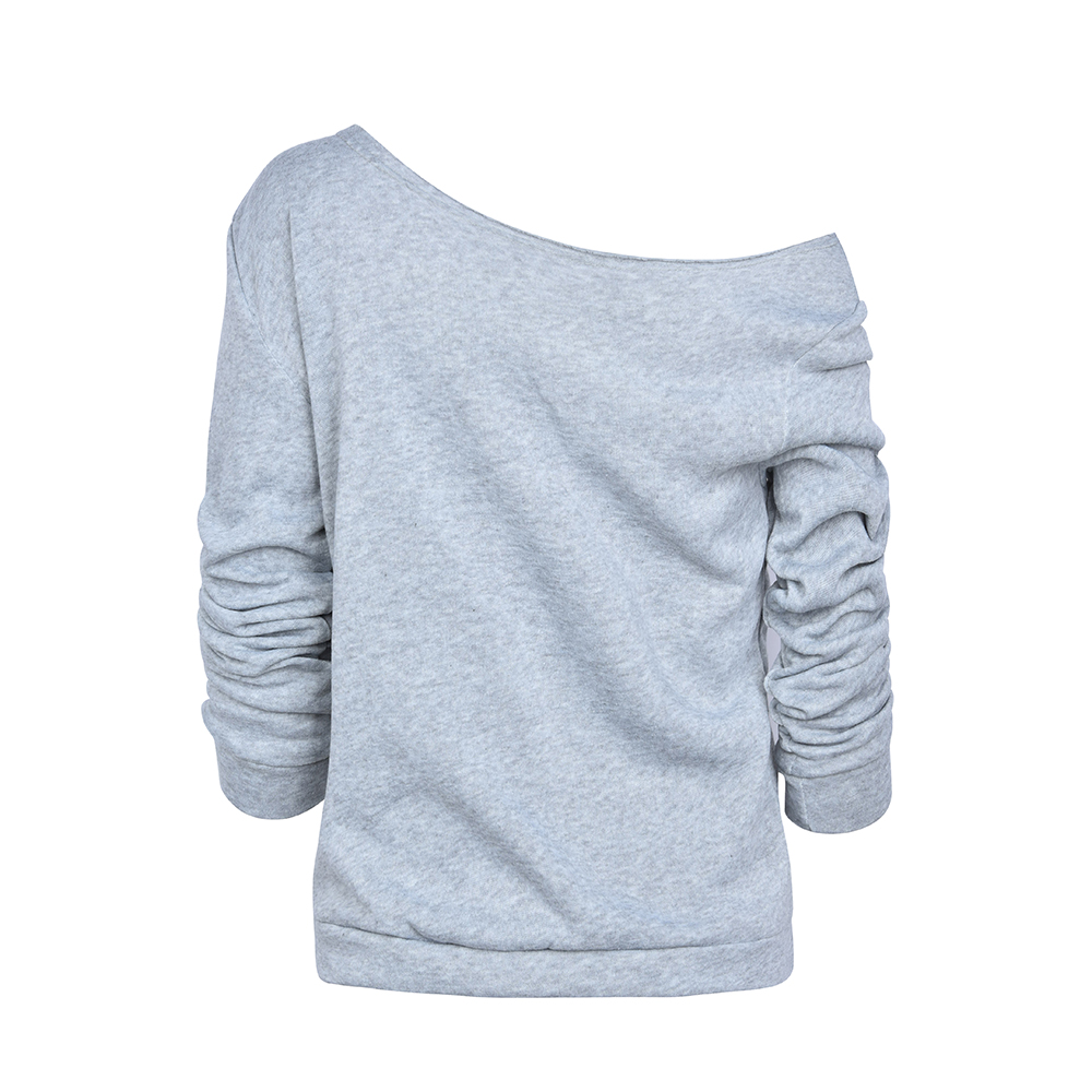Womens-Long-Sleeve-Off-Shoulder-Warm-Sweatshirt-Pullover-Casual-Top-Shirt-Blouse thumbnail 15