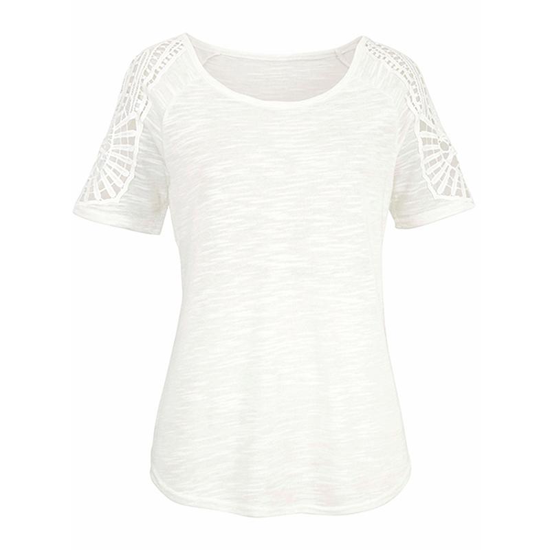 Women-Summer-Cold-Shoulder-Loose-T-Shirt-Blouse-Ladies-Short-Sleeve-Casual-Tops thumbnail 15