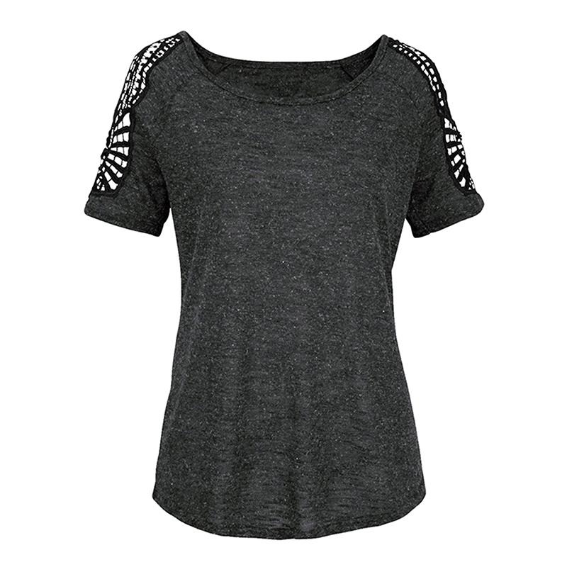 Women-Summer-Cold-Shoulder-Loose-T-Shirt-Blouse-Ladies-Short-Sleeve-Casual-Tops thumbnail 19