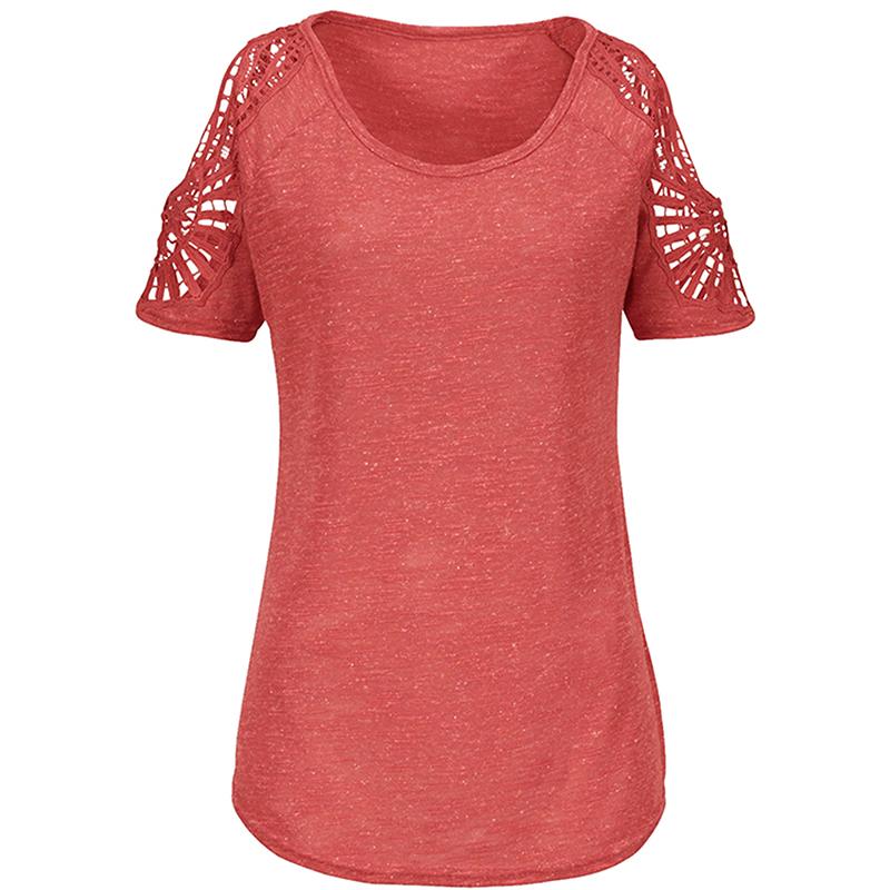 Women-Summer-Cold-Shoulder-Loose-T-Shirt-Blouse-Ladies-Short-Sleeve-Casual-Tops thumbnail 23