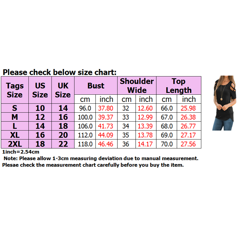 Womens-Cold-Shoulder-T-Shirt-Ladies-Summer-Casual-Tunic-Blouse-Plain-Tops-UK thumbnail 16