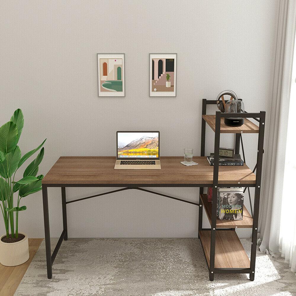 Computer Desk 120CM PC Laptop Table with 4 Layer Shelves ...