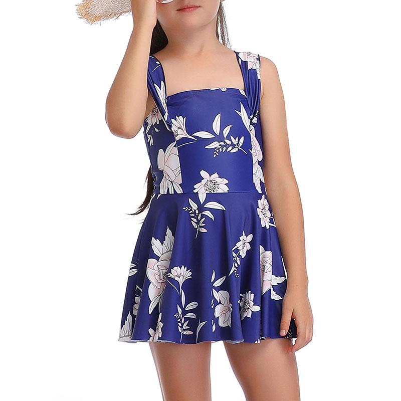 Mother Daughter Family Matching Swimdress Swimwear Swimsuit Bathing Suit Halter