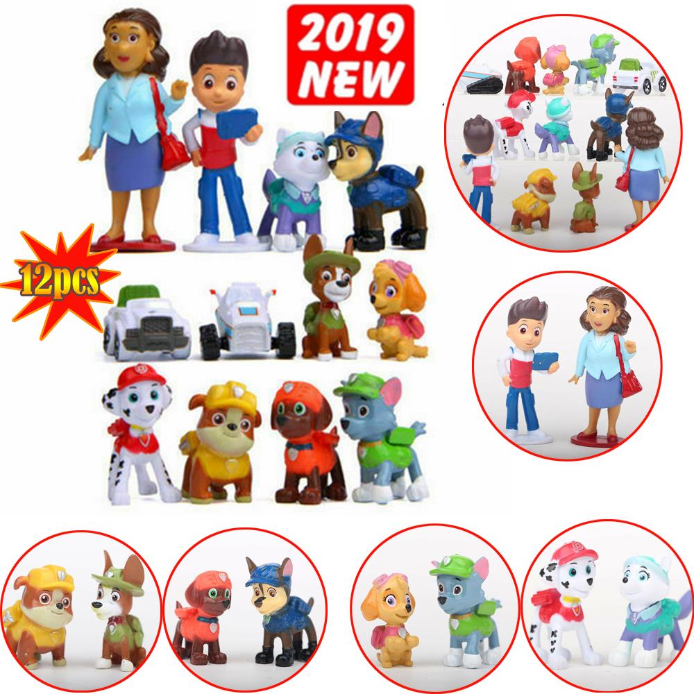 12 St Set PAW Patrol Cake Toppers Actionfiguren Puppy Patrol Spielzeug Geschenk