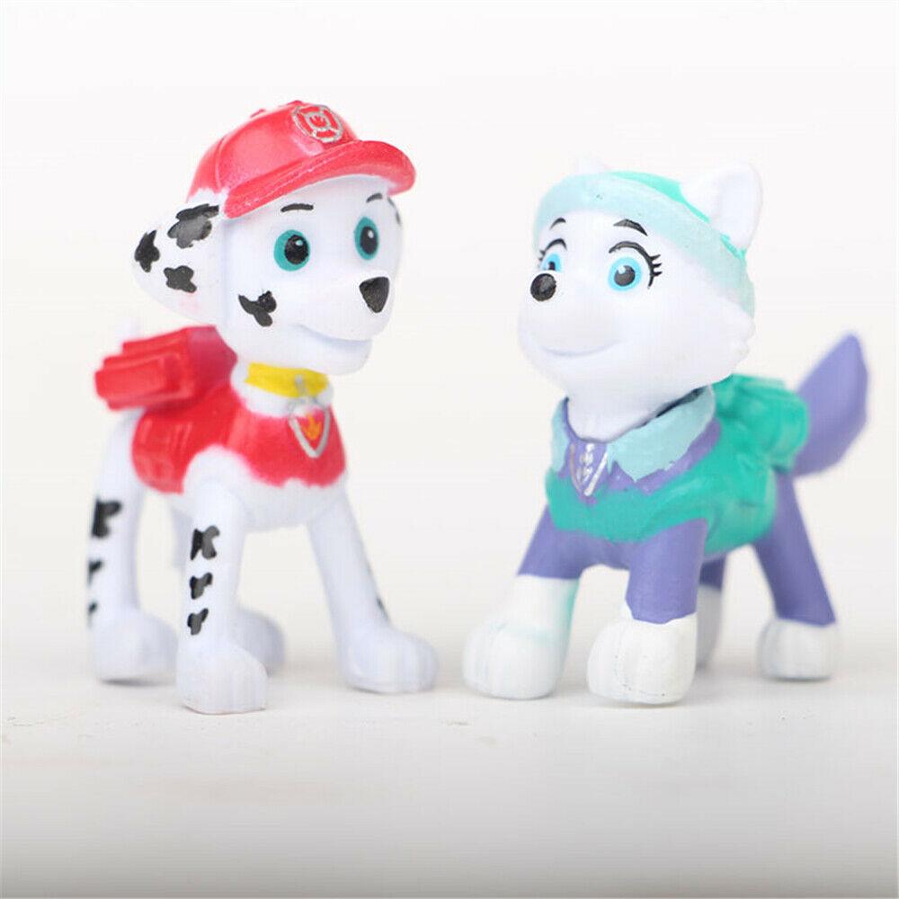 12 Stück Set PAW Patrol Cake Toppers Actionfiguren Puppy Patrol Spielzeug
