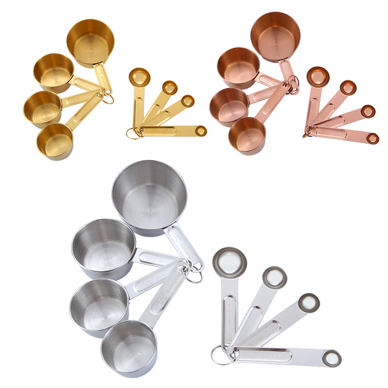 Stainless Steel Measuring Spoons Cups Set Kitchen Utensil Cooking Baking Tool