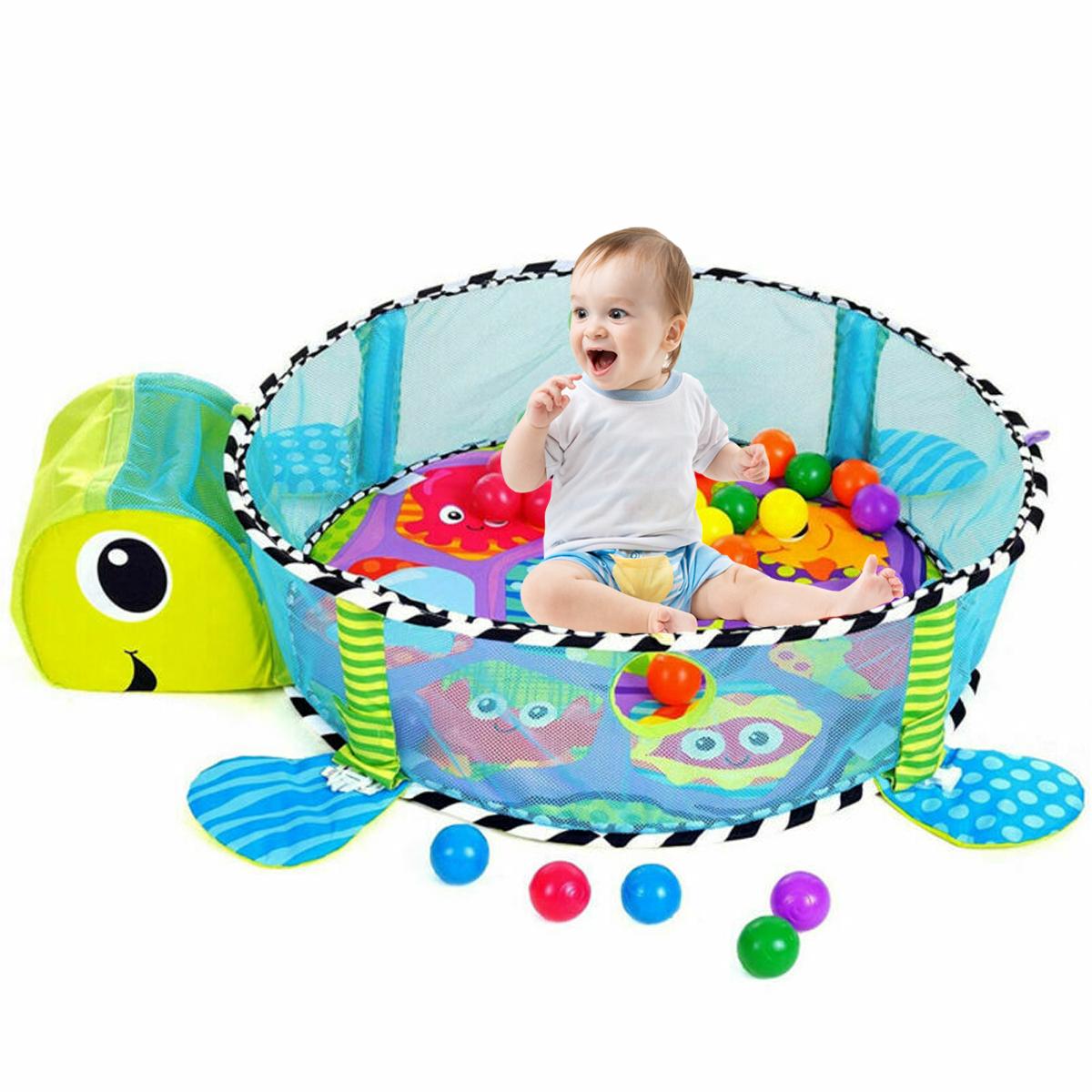 Krabbeldecke Bällebad Spielbogen Erlebnisdecke Spielteppich Babydecke 30 Bällen