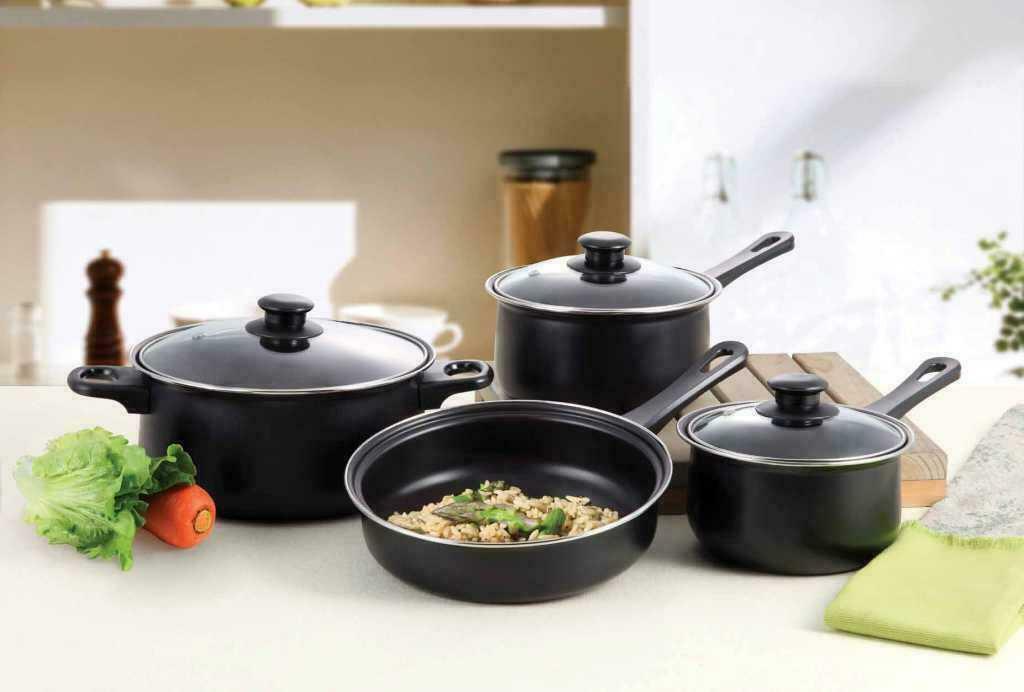 7pcs Carbon Steel Nonstick Cookware Set Kitchen Pots And