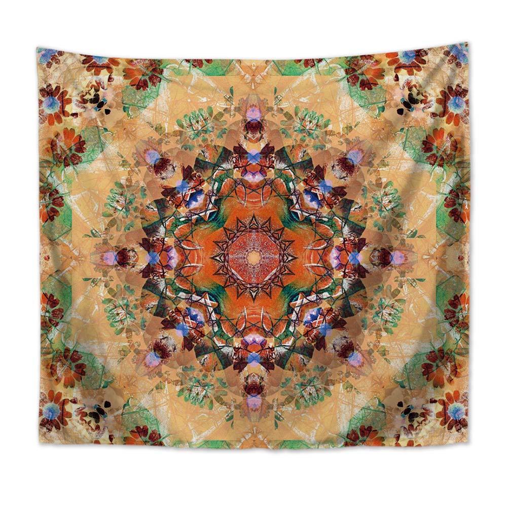 Mandala Strandtuch Rund Blume Wandteppich Tapisserie Wandbehang Yoga Matte Deko