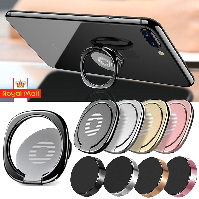 iRing Phone Ring Finger Grip Holder 360° Car Mount Hook iPhone Stand Mobile Pad