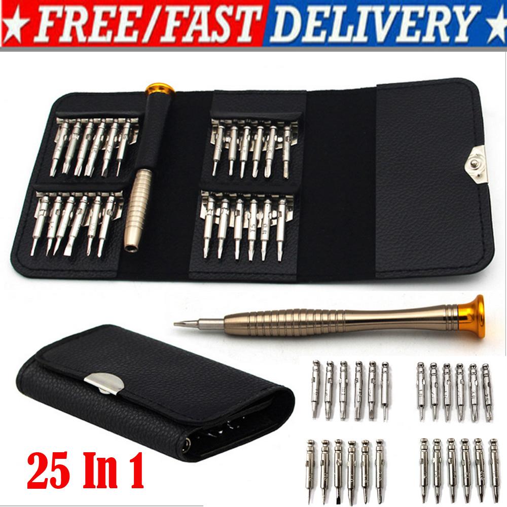25 In1 kleiner Mini Reparatur Präzisionsschraubendreher Magnet Torx Werkzeugsatz