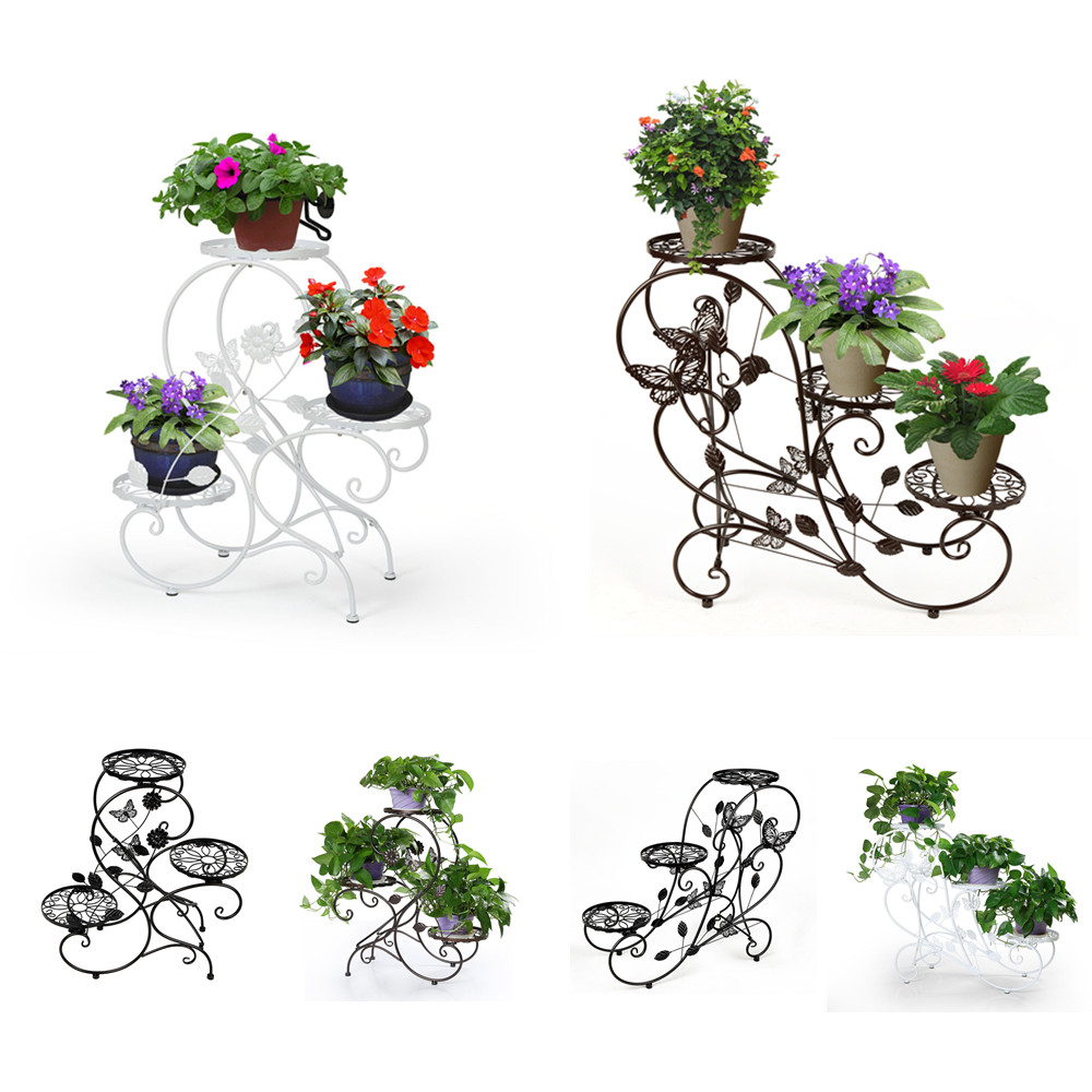 3 t pf stufenf rmig blumentreppe metall blumentreppe gratenregal zuhause b ro ebay. Black Bedroom Furniture Sets. Home Design Ideas