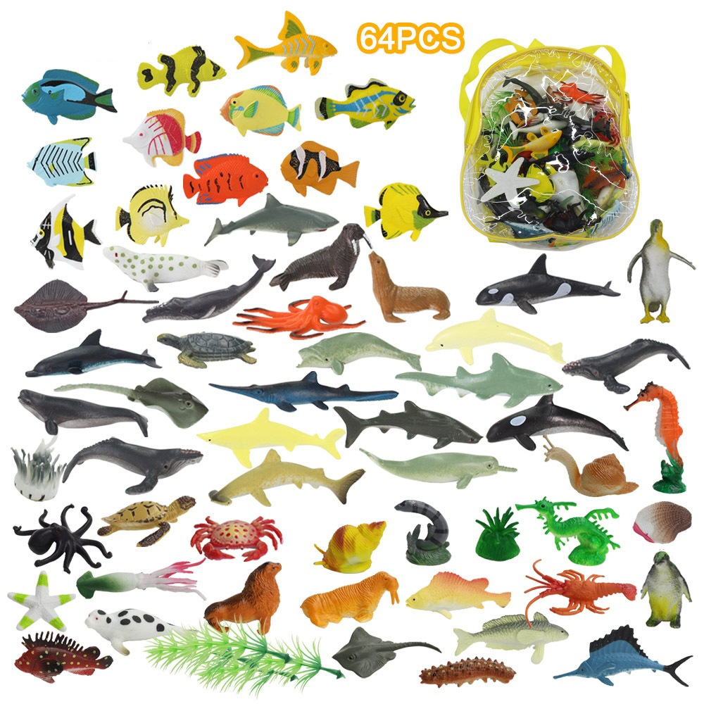 Safari WHALE TOOB plastic toy wild sea animal marine tube BUNDLE of 10  NEW