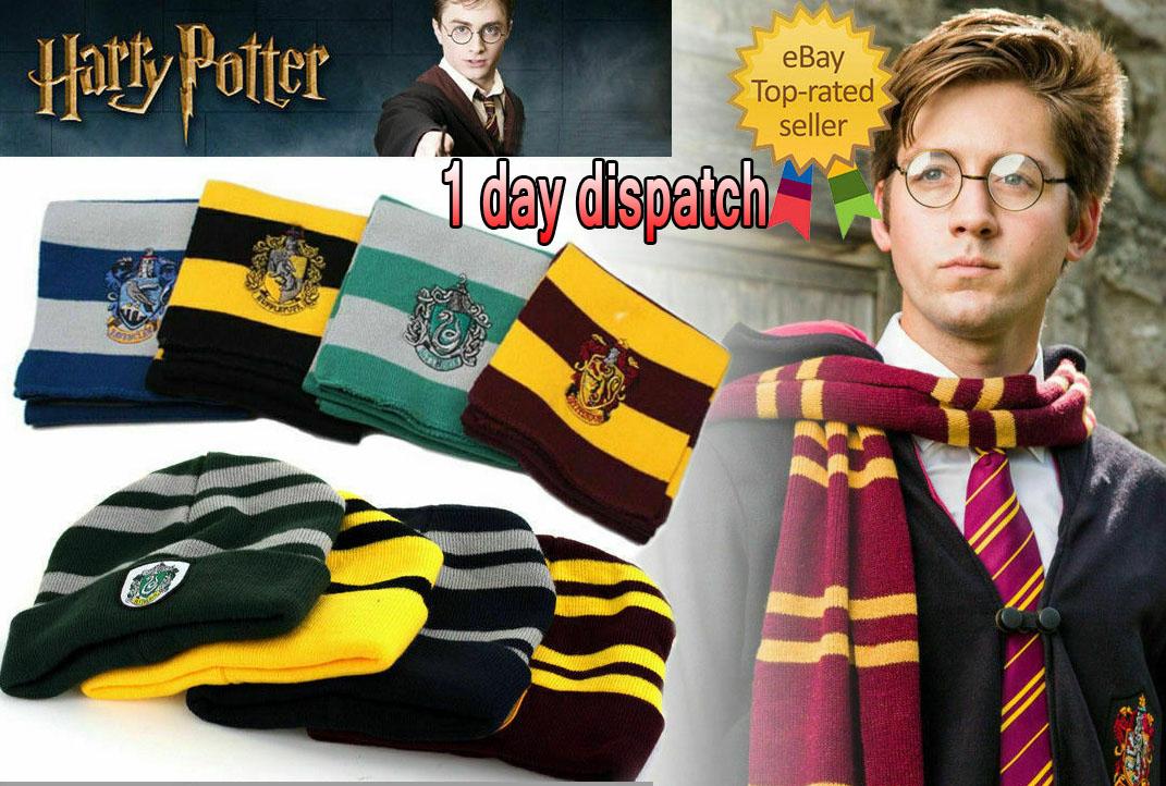 UK Harry Potter Scarf Gryffindor-Slytherin-Hufflepuff-Ravenclaw gift cosplay N