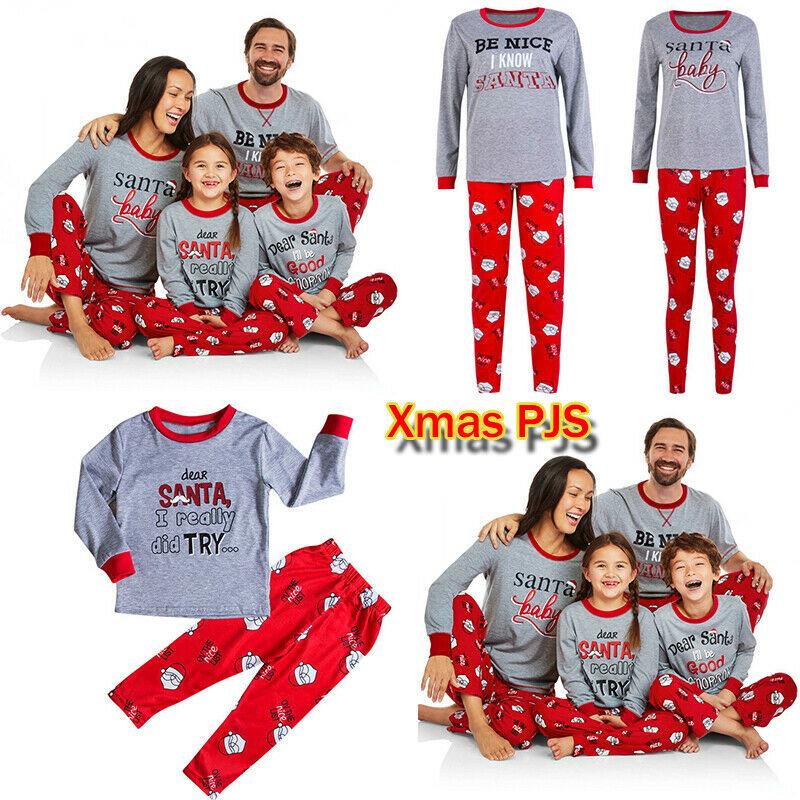 Boys Christmas Pajamas.Details About Uk Family Matching Boys Girls Christmas Pyjamas Xmas Nightwear Pajamas Pjs Sets
