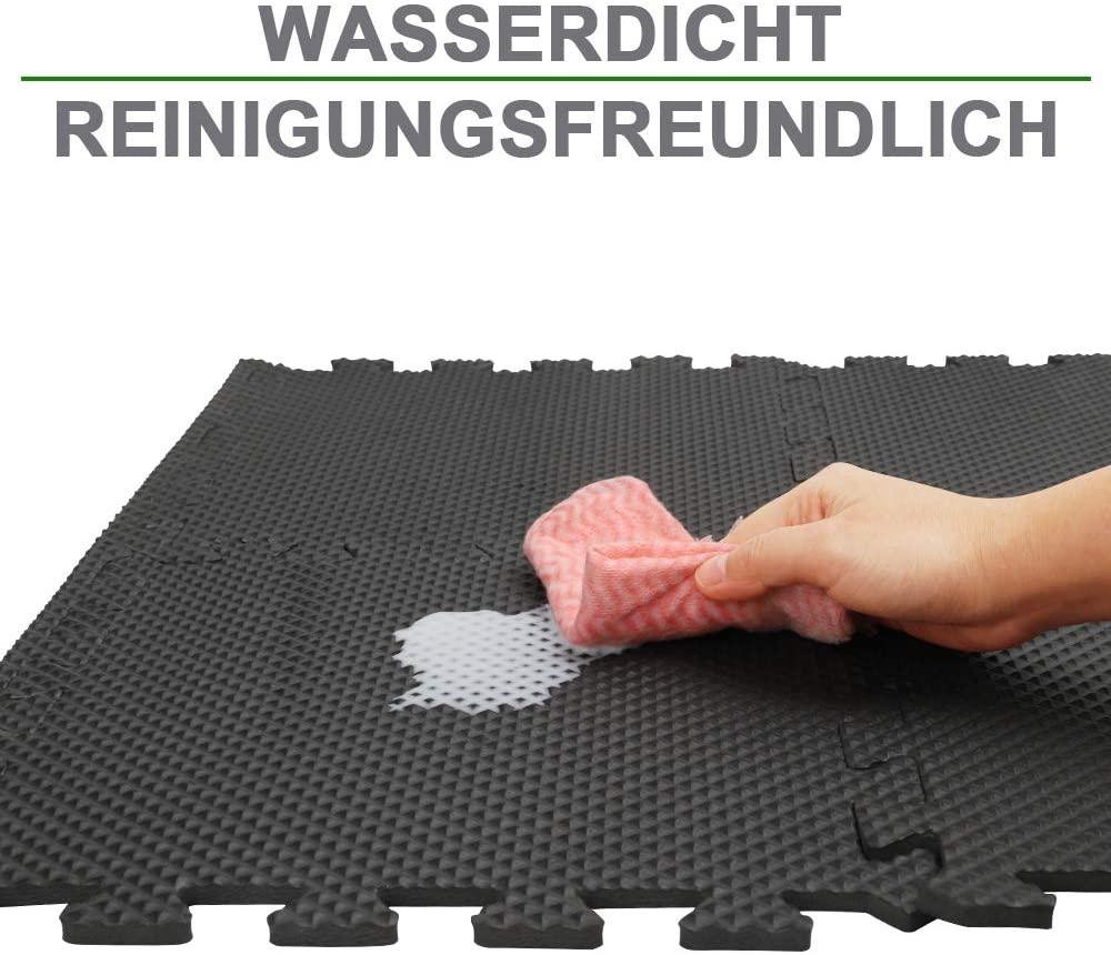 6x Fitnessmatte Bodenschutzmatten Unterlegmatten Puzzlematte Kinderspielteppich