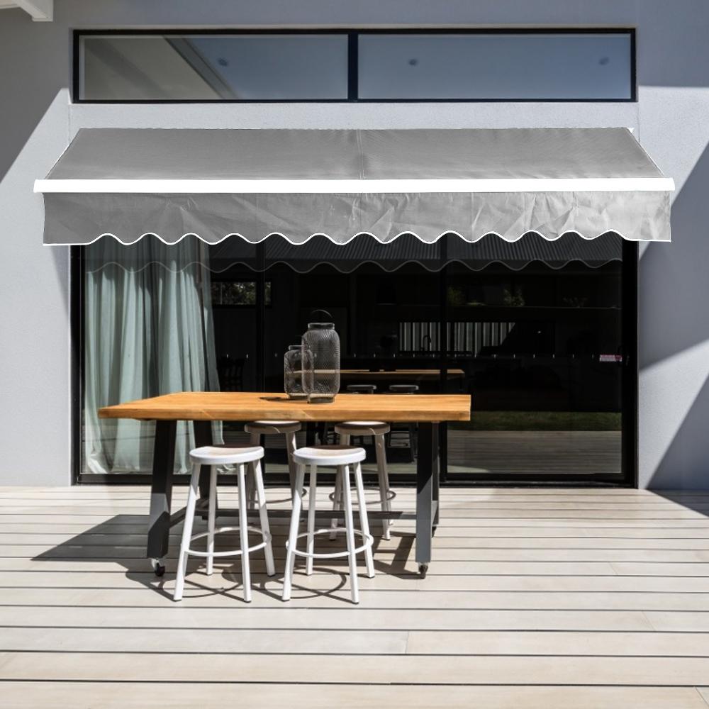 DIY Retractable Manual Awning Canopy Outdoor Patio Garden ...