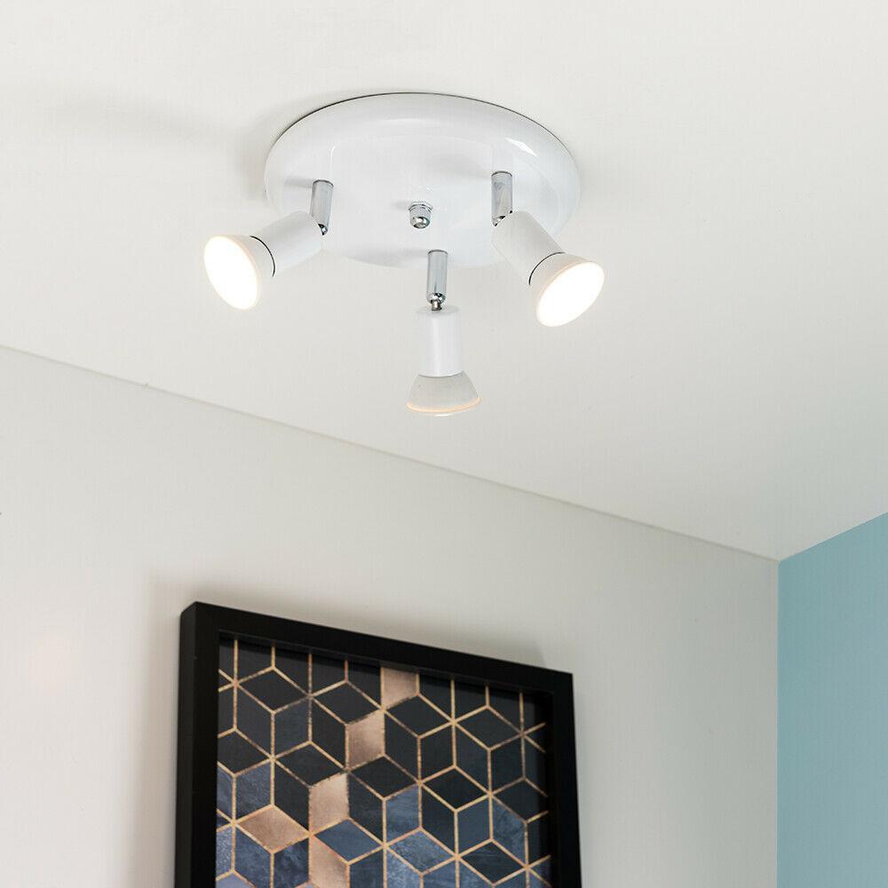 3 way adjustable gu10 ceiling spotlight fitting kitchen