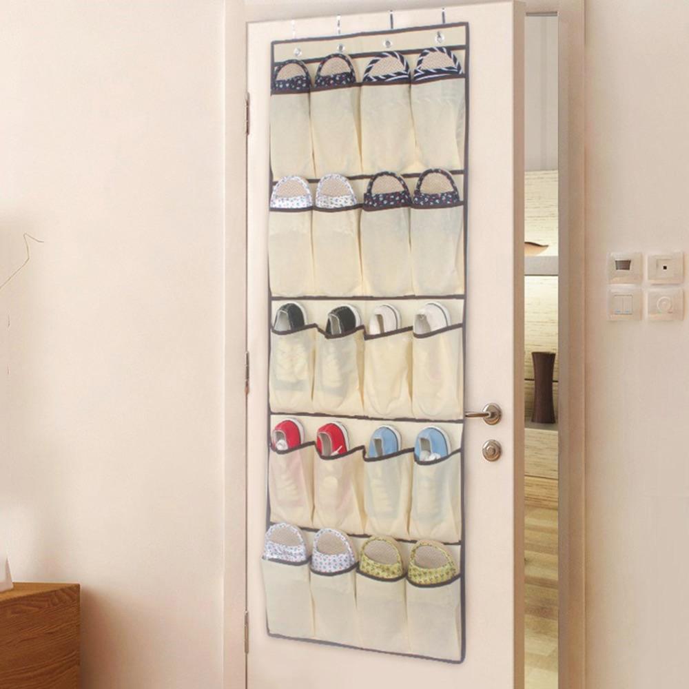 Porte Chaussure Derriere Porte détails sur 20 chaussures de poche rack de rangement derrière la porte  suspendues sac clou
