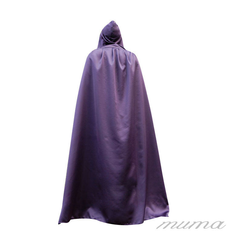 "ADULT HOODED  65/"" LONG CLOAK FANCY DRESS COSTUME CAPE WITH HOOD World Book Day"