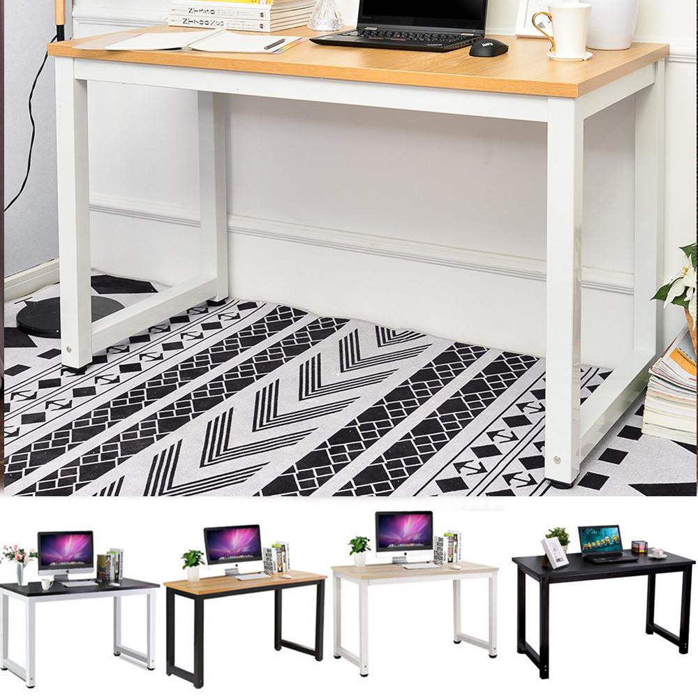 COSTWAY Computertisch Schreibtisch PC-Tisch Computerschreibtisch B/ürotisch Laptoptisch Arbeitstisch aus Holz mit Rollen und Tastaturauszug Schwarz 80 x 56 x 127cm f/ür Home Office