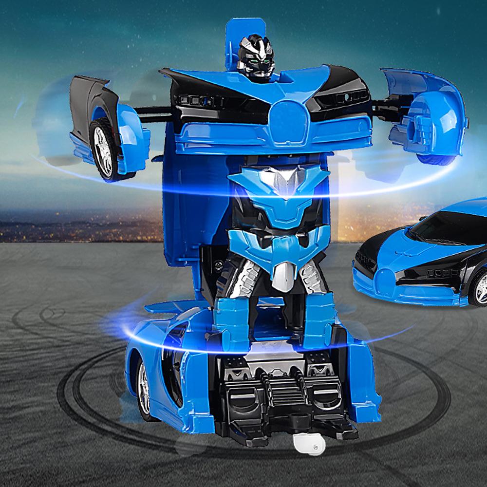 Kind Spielzeug Transformer Auto Rennauto Roboter mit Fernbedienung Motor de