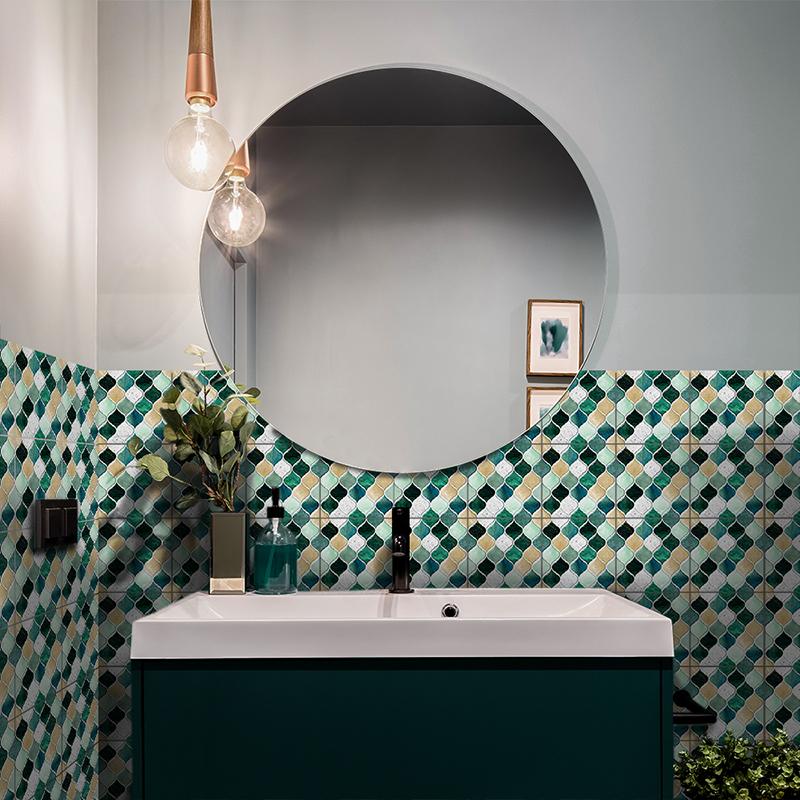 diy selfadhesive mosaic tiles wall stickers kitchen