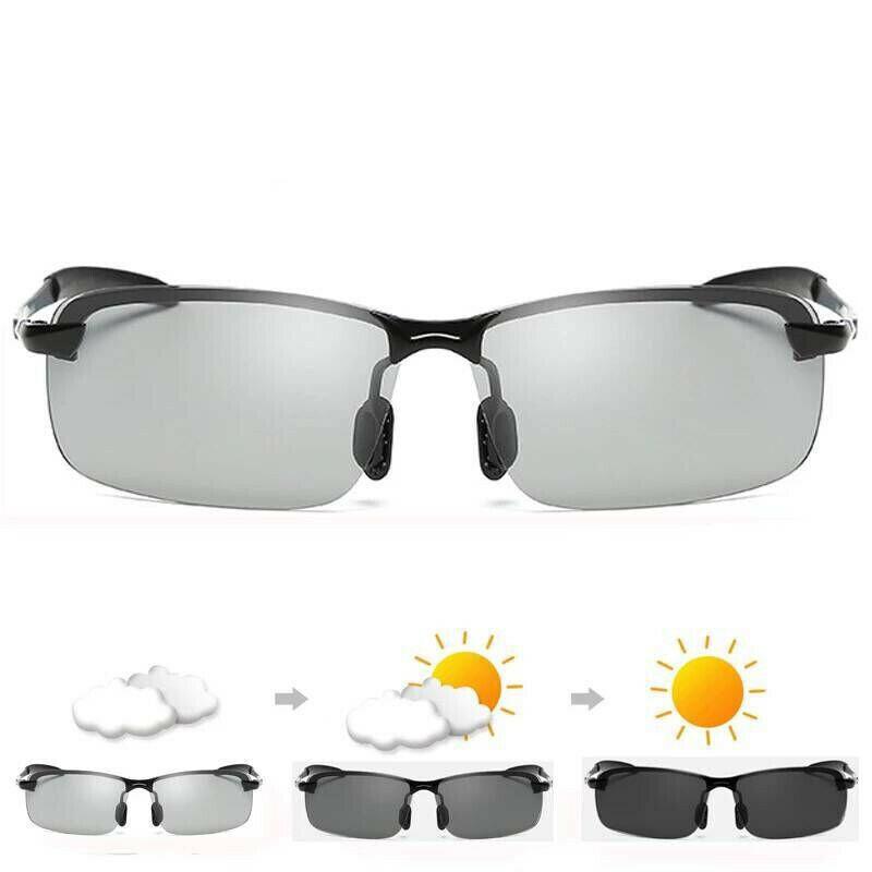 Occhiali-da-Sole-da-Uomo-Donna-Polarizzati-Fotocromatici-Sportivi-polaroid miniatura 3
