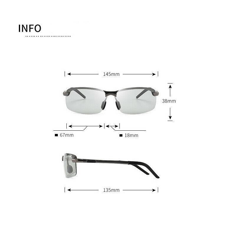Occhiali-da-Sole-da-Uomo-Donna-Polarizzati-Fotocromatici-Sportivi-polaroid miniatura 8