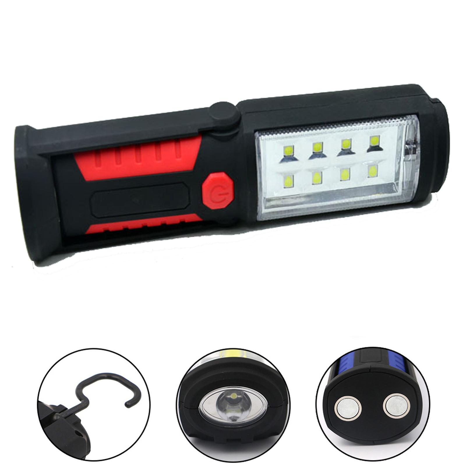 8LED Arbeitslampe Werkstattleuchte AKKU USB Stablampe Magnet Handlampe Werkstatt