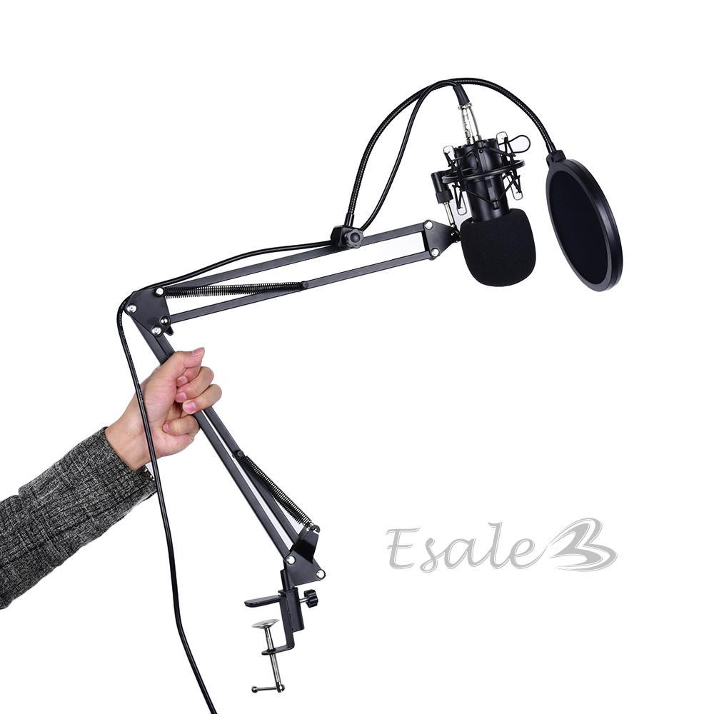 Kondensator Sound Podcast Studio Mikrofone Mic Arm für PC Laptop ...