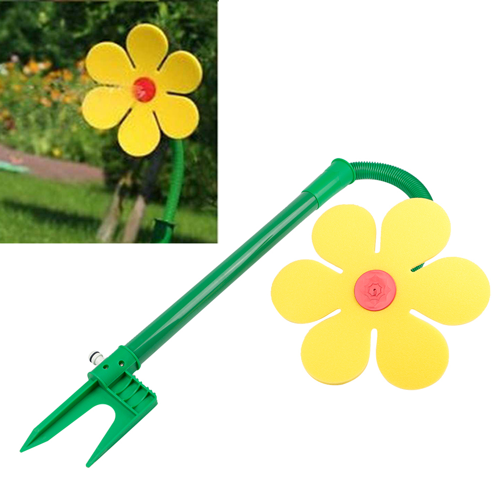 Outdoor summer fun dancing yellow daisy flower garden water feature outdoor summer fun dancing yellow daisy flower garden water feature sprinkler izmirmasajfo