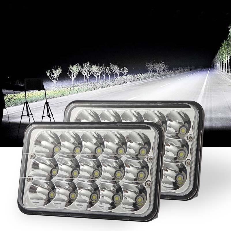 15-LEDs-4x6-034-5x7-034-Brightest-Headlight-High-Low-Beam-Fit-For-Jeep-Cherokee-XJ miniatura 12