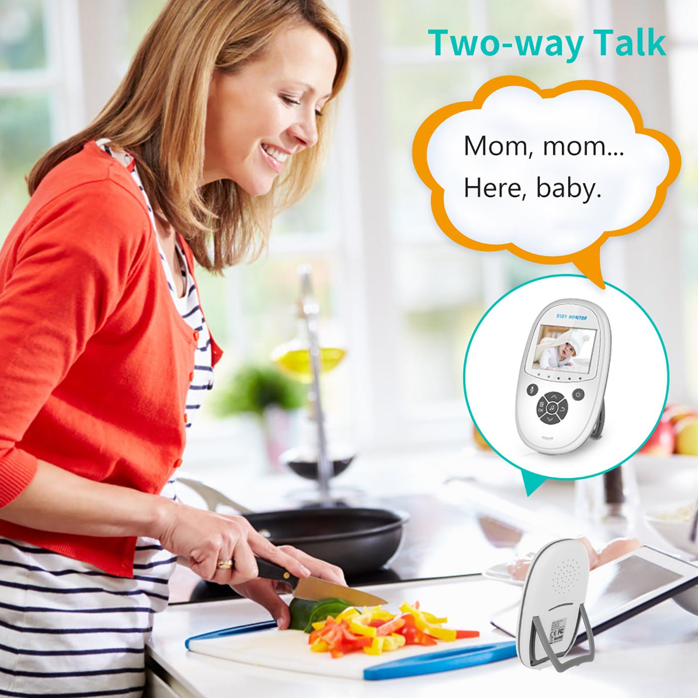 Digital Funk Babyphone Mit Kamera Audio Video Monitor LCD