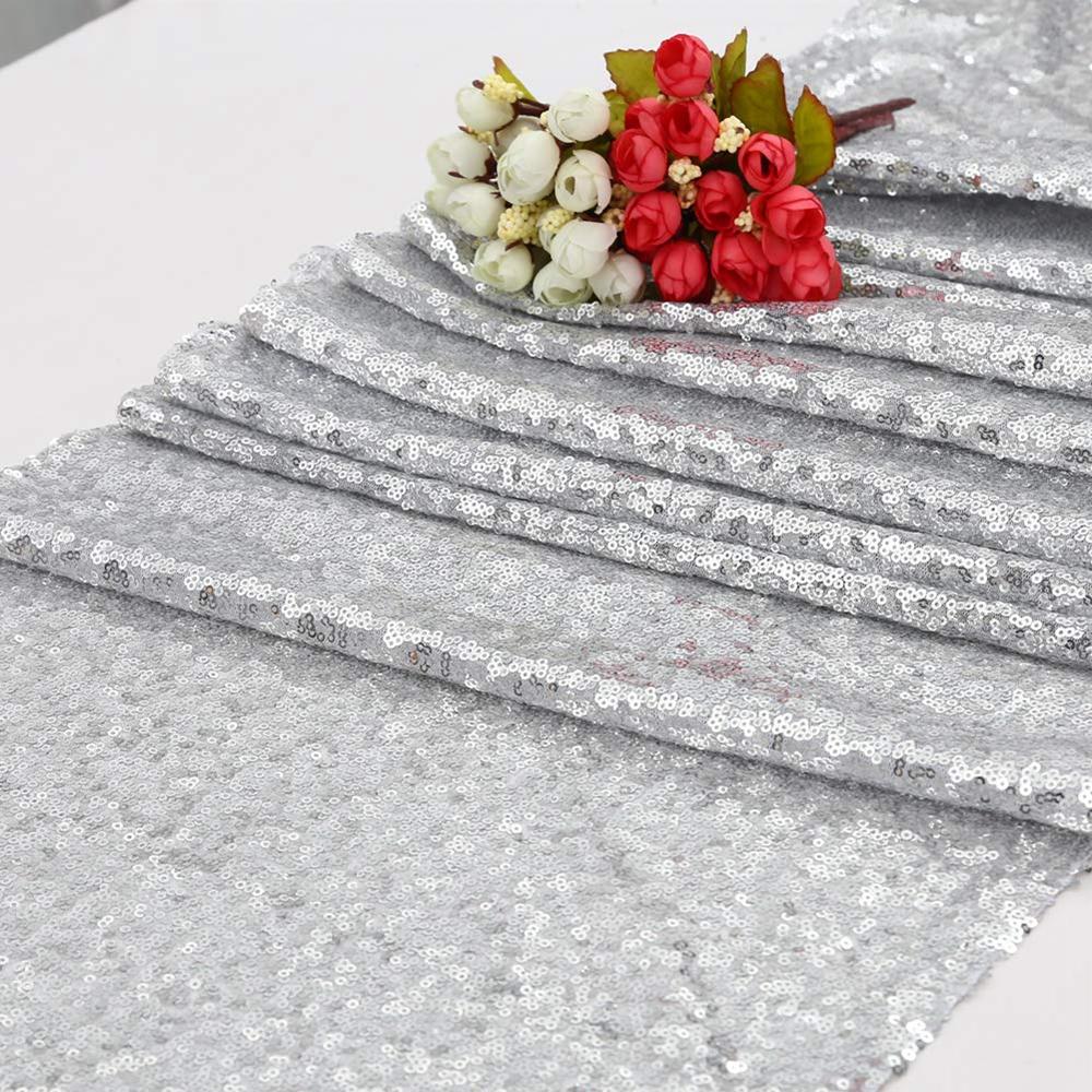 1 5 10 TABLE RUNNER Cloth Mat Sparkly Shiny Bling Xmas Chair Sash Table Decor zz