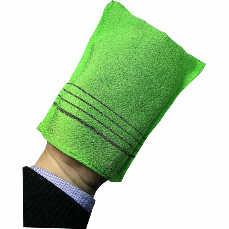 Exfoliating Bath Washcloth Shower Wash Cloths Dead Skin Towel Green 6PCS New