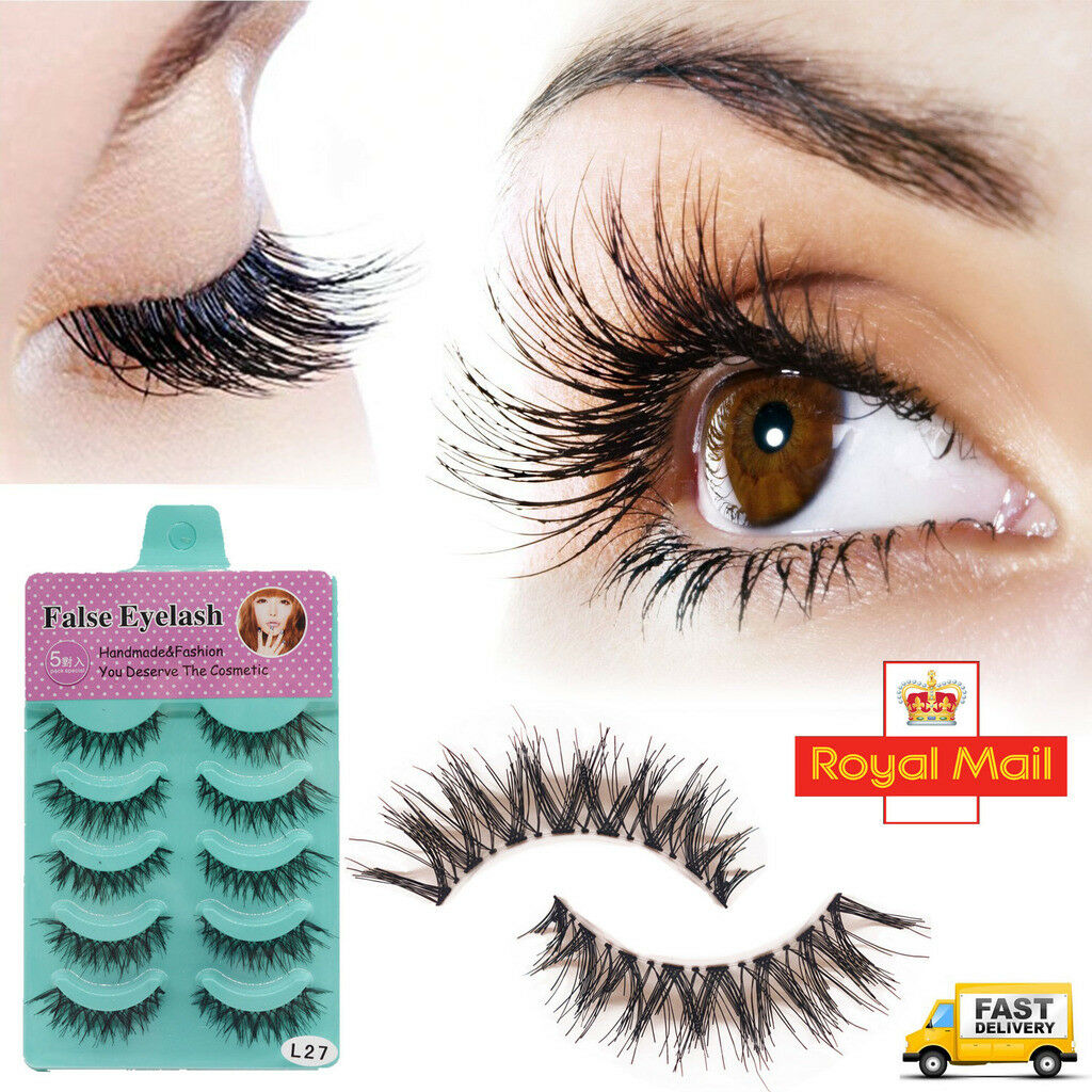 5 Pairs False Eyelashes Long Thick Natural Fake Eye Lashes Set Mink Makeup Bulk