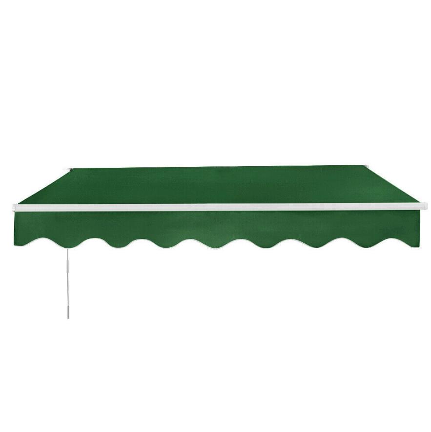 UK Retractable Manual Awning Canopy Outdoor Patio Garden ...