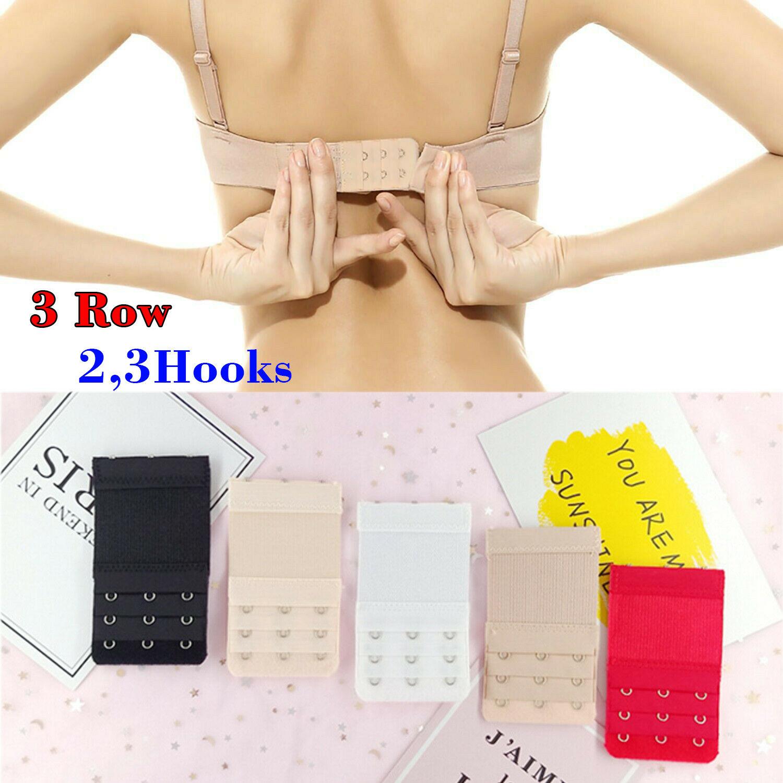 Ladies Bra Extension Strap Underwear Strapless 1,3pcs uk Bra Extender 3 Hooks