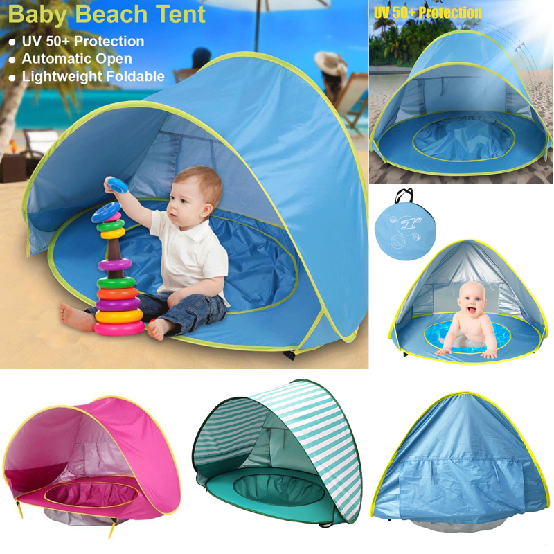 Infant Protection Baby Beach Tent Pop Up Waterproof Shade Pool Sun Shelter