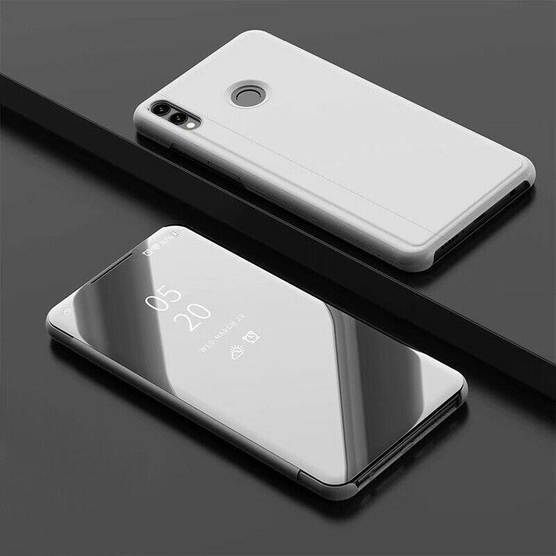 thumbnail 14 - For-Samsung-A10-A20e-A40-A50-A70-Clear-360-View-Mirror-Flip-Stand-Case-Cover
