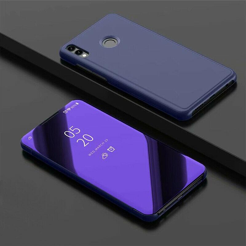 thumbnail 16 - For-Samsung-A10-A20e-A40-A50-A70-Clear-360-View-Mirror-Flip-Stand-Case-Cover