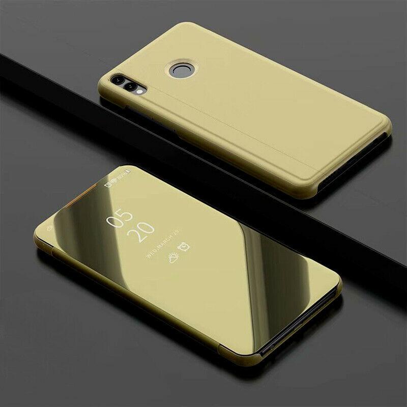 thumbnail 20 - For-Samsung-A10-A20e-A40-A50-A70-Clear-360-View-Mirror-Flip-Stand-Case-Cover