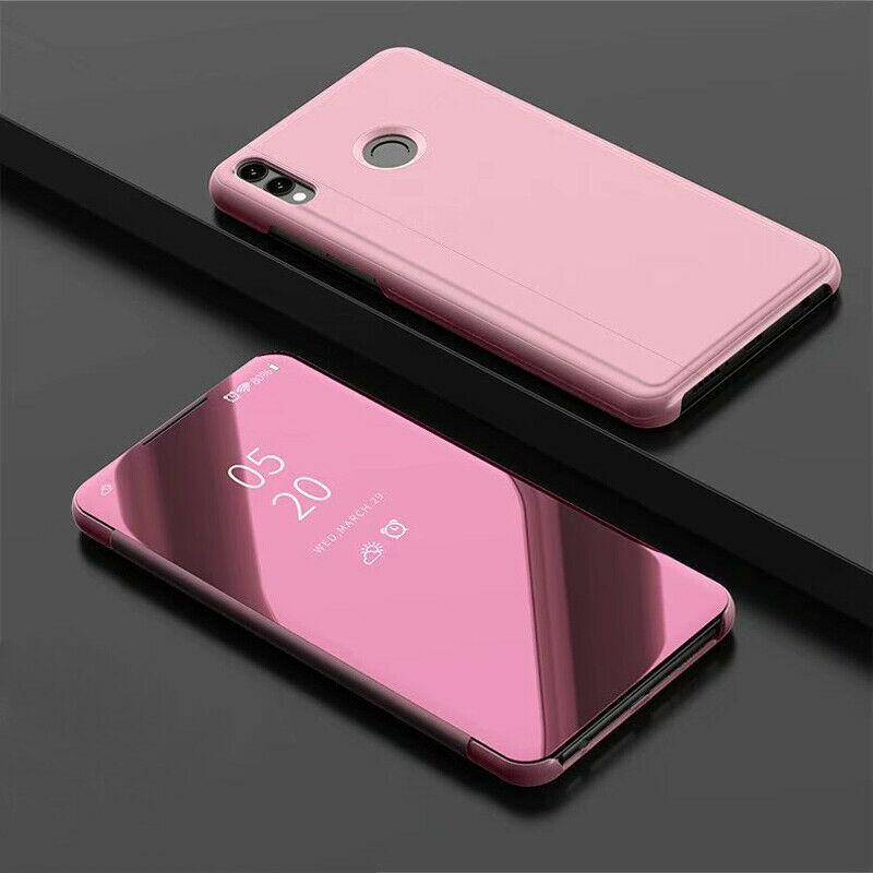 thumbnail 10 - For-Samsung-A10-A20e-A40-A50-A70-Clear-360-View-Mirror-Flip-Stand-Case-Cover