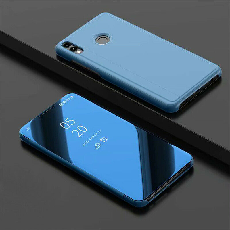 thumbnail 12 - For-Samsung-A10-A20e-A40-A50-A70-Clear-360-View-Mirror-Flip-Stand-Case-Cover