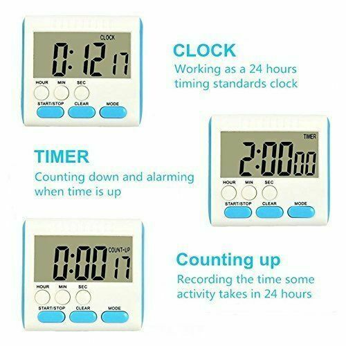 Timers Kitchen, Dining & Bar Magnetic Large LCD Digital