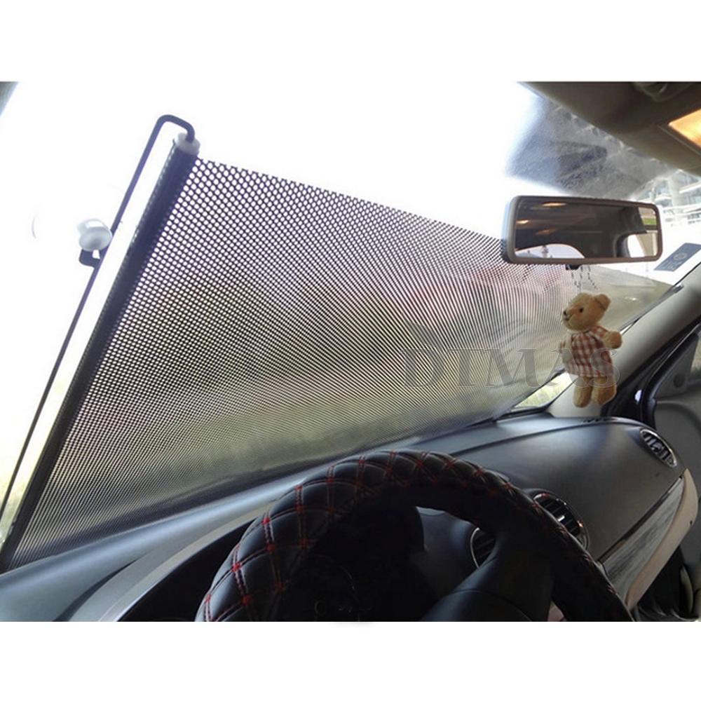 Rideau r tractable pare soleil ombre pour vitre lat rale arri re auto ebay - Rideau pare soleil voiture ...