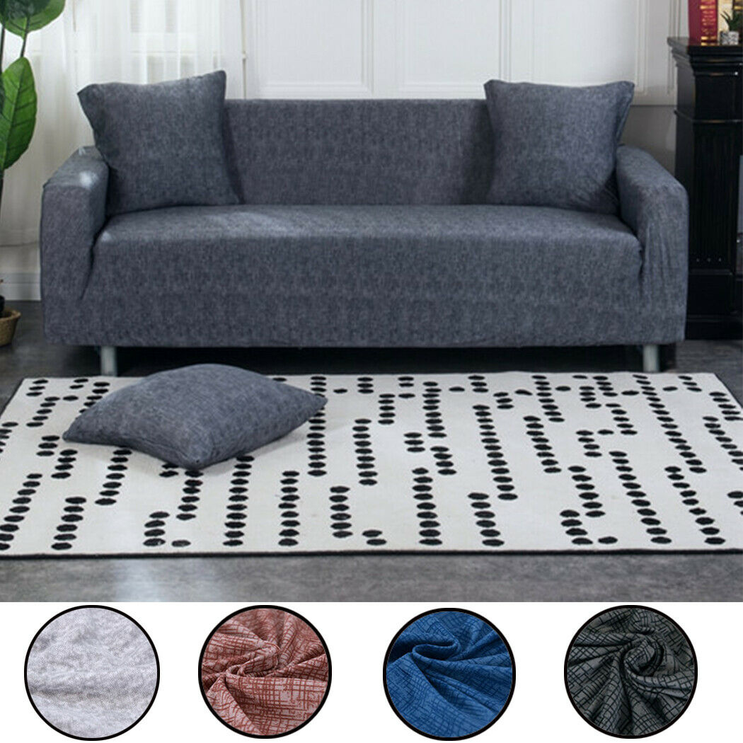 1-4 Seater Stretch Sofa Cover Easy Fit Couch Cover Slipcover Settee Protector US