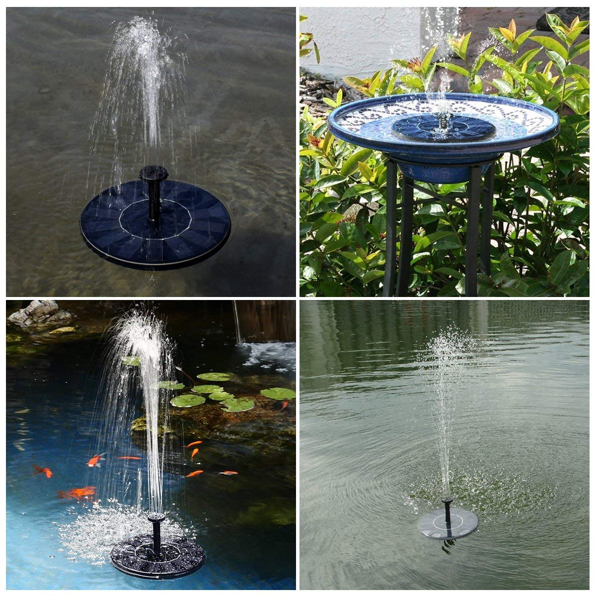 schwimmend solar springbrunnen font ne garten teich schwimmbad pumpe solar pumpe ebay. Black Bedroom Furniture Sets. Home Design Ideas