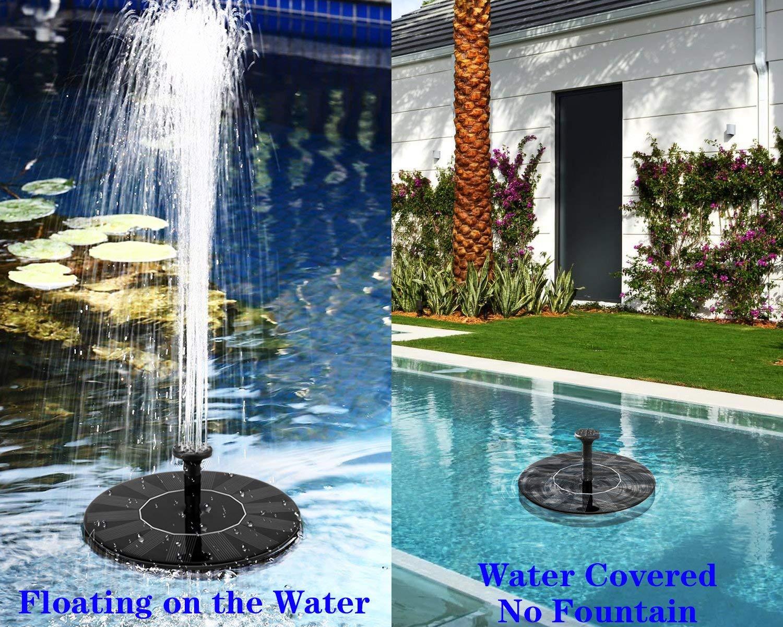 Schwimmend Solar Springbrunnen Fontäne Garten Teich schwimmbad Pumpe&Solar Pumpe eBay ~ 25103717_Kleiner Garten Springbrunnen Solar